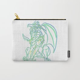 Triple neon glow Dragon Carry-All Pouch