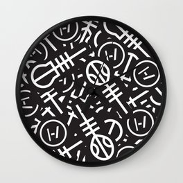 TØP Stickers Wall Clock