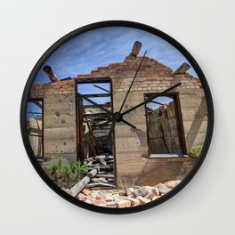 Abandoned Building - Nine Mile Canyon - Price - Utah Wall Clock