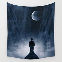 Blue Dream Night Wall Tapestry