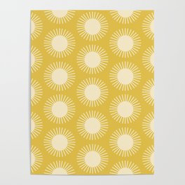 Golden Sun Pattern III Poster