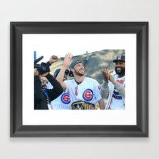 Kris Bryant - Chicago World Champion Framed Art Print