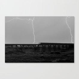 Electric Train Canvas Print