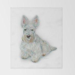 Wheaten Scottish Terrier Throw Blanket