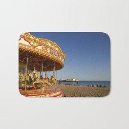 Golden Carousel at the Beach Bath Mat
