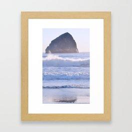 HAYSTACK ROCK - CAPE KIWANDA - PACIFIC CITY - OREGON Framed Art Print