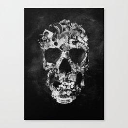 Vintage Skull BW Canvas Print