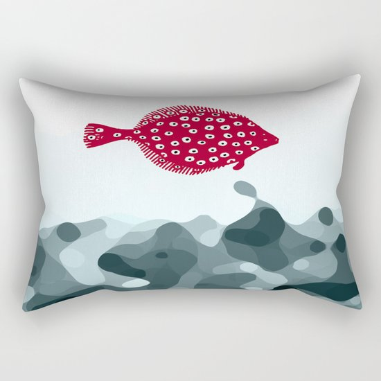 Little Red Fish Rectangular Pillow