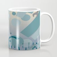 jaws Mugs featuring Jaws! by LivingIllustrations