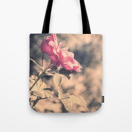 Hope (Hibiscus Pink Rose with Inspirational Quote) Tote Bag