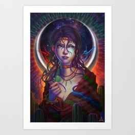 Moon Woman Art Print