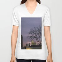 skyline V-neck T-shirts featuring skyline by Amanda Stockwell