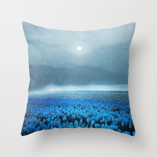 magical Tulips Throw Pillow