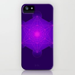 Metatron | Cube | Secret Geometry | Platonic | Matrix | Protects children iPhone Case
