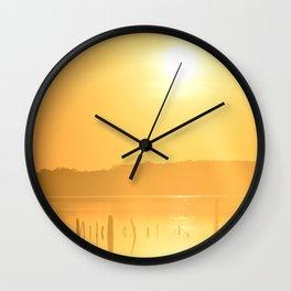 Sun's Morning Greeting Wall Clock