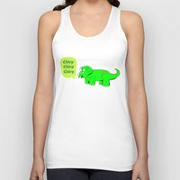 dino Tank Tops featuring Dino by @DrunkSatanRobot