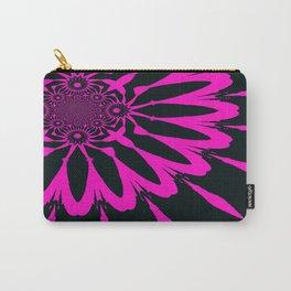 The Modern Flower Black & Fuchsia Carry-All Pouch
