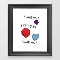 Dandy (I Hate You!) Framed Art Print