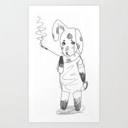 Bereft Bunny Art Print