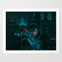 Texas State Capitol from Congress Ave Art Print
