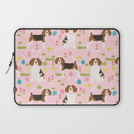 Beagle easter spring bunny eggs dog breed gifts for pure breed pet lover beagles Laptop Sleeve