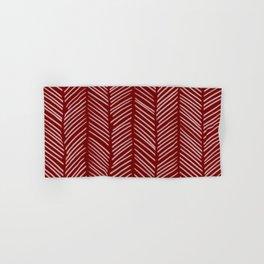 Crimson Herringbone Hand & Bath Towel