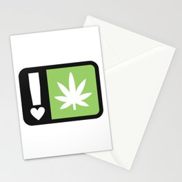 marijuana universal symbol of love Stationery Cards