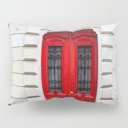 Red Door in Paris Pillow Sham