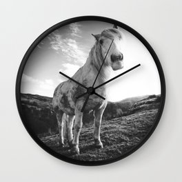 Horse (Black and White) Wall Clock