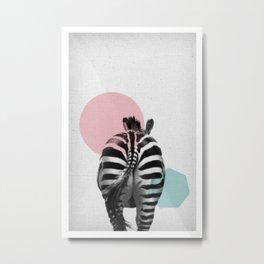 Zebra 01 Metal Print