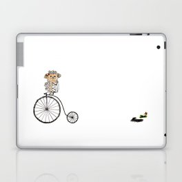 Farthing bike hedgehog Laptop & iPad Skin