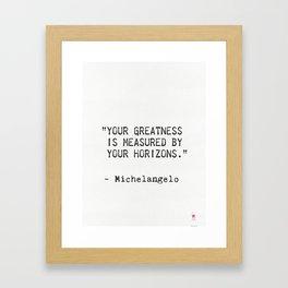 Michelangelo quote 5 Framed Art Print