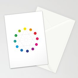 Simple Color Wheel Stationery Cards