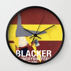 Mary Chain & Blacker band poster Wall Clock
