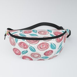 Floral Pattern #13 | Red and Blue Fanny Pack