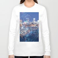 minneapolis Long Sleeve T-shirts featuring Minneapolis Neon by Andrew C. Kurcan