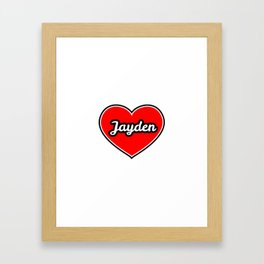 Love for JAYDEN Framed Art Print