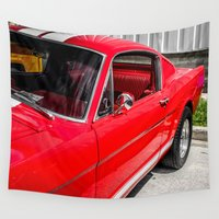 mustang Wall Tapestries featuring 1956 Ford Fastback Mustang by Eye Shutter AUTO