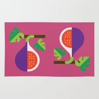 fig Area & Throw Rugs featuring Fruit: Fig by Christopher Dina