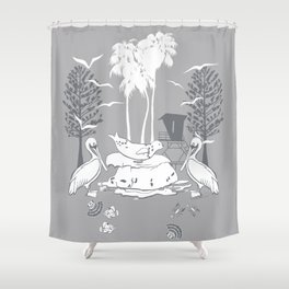La Jolla Print Shower Curtain