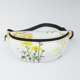 yellow and orange flower collections Fanny Pack