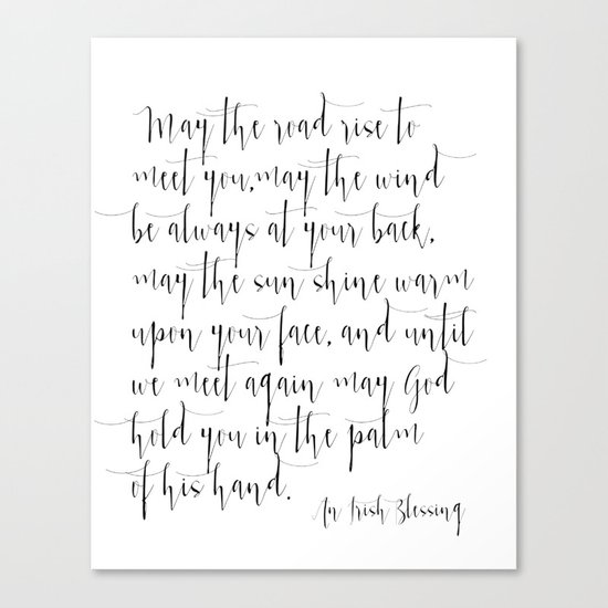 Inspirational Quote Irish Blessing Printable Quote Print Typography Print  Quote Irish Song Irish Canvas Print