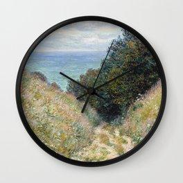 1882-Claude Monet-Road at La Cavée, Pourville-60 x 81 Wall Clock