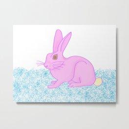 Ice cream rabbit Metal Print