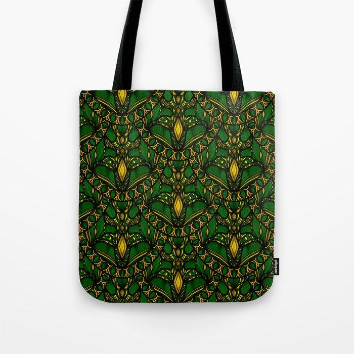 Emerald Scales Tote Bag