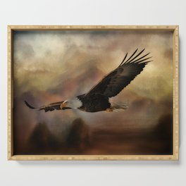 Eagle Flying Free Serving Tray