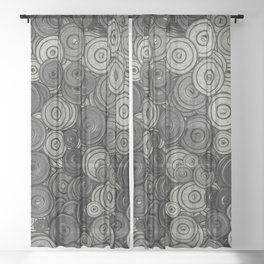 Heavy iron / 3D render of hundreds of heavy weight plates Sheer Curtain