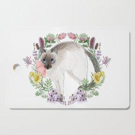Pixie the Chocolate Siamese Cat Cutting Board