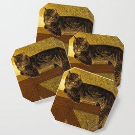 "Théophile Steinlen ""Cat on a Balustrade"" Coaster"