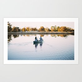Paddling in Peace Art Print